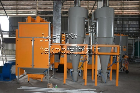 مونو سایکلون سیستم بازیافت رنگ پودری