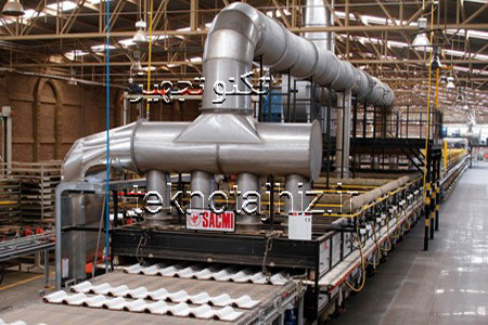کوره پخت لعاب الکترواستاتیک پودری به روش صنعتی
