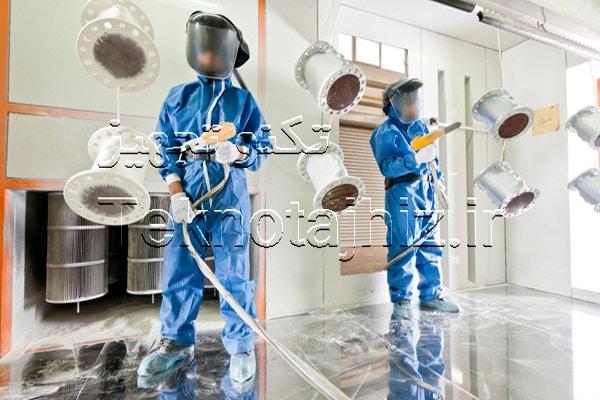 دستور العمل ایمنی هنگام اجرای عملیات رنگ پودری الکترواستاتیک