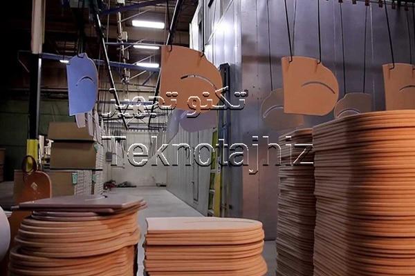 تولید کننده خط رنگ مبلمان فروش و تعمیر قطعات خط رنگ صنایع چوبی