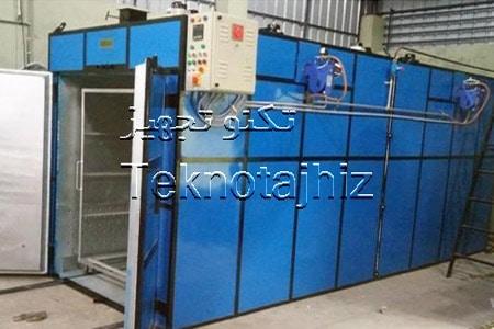 رنگ آمیزی با رنگ کوره ای پودری الکترواستاتیک و تمیز کاری سطح پیش از اعمال رنگ