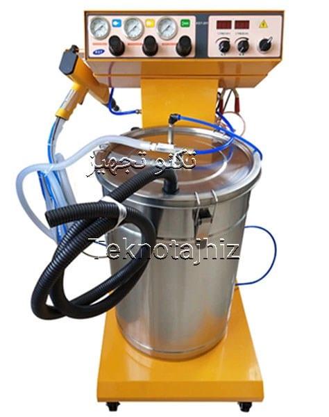 بررسی مخزن دستگاه پاشش رنگ پودری الکترواستاتیک