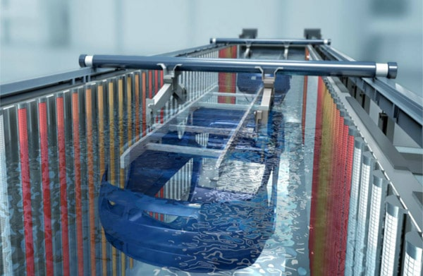 مراحل شتسشوی قطعات در تیراژ بالا در خط رنگ پودری